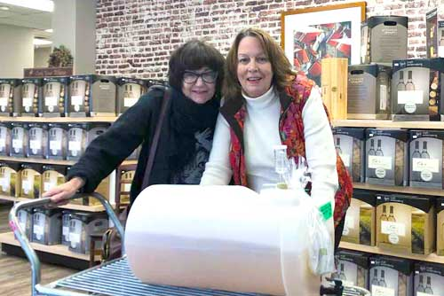 Village Craft Winemaker - Owner Lori Dahlberg and Client