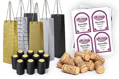 Village Craft Winemaker - Home Winemaking Accessories Calgary - Labels, Corks, Gift Bags, Shrink Tops